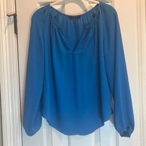 Olivaceous Popover Teal Blouse